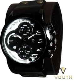 Relógio Bracelete de Couro Masculino  Visite nossa FanPage : https://www.facebook.com/Passarella-Brasil-212170078859412/?fref=ts Visite nosso site: www.passarellabrasil.com.br   #braceletedecouro #relogiobracelete  #vouth