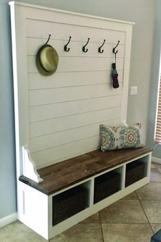 Shiplap Hall Tree Bench Plans — the Awesome Orange entryway ideas with bench . Shiplap Hall Tree Bench Plans — the Awesome Orange entryway id. - My Website 2020 Woodworking Furniture Plans, Diy Furniture, Woodworking Tools, Luxury Furniture, Sketchup Woodworking, Woodworking Apron, Concrete Furniture, Youtube Woodworking, Woodworking Patterns