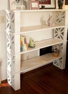Home ideas diy storage bookshelves 32 super Ideas Bookcase Storage, Diy Storage, Bookshelves, Bookshelf Speakers, Brick Shelves, Diy Wood Shelves, Cinder Block Shelves, Cinder Blocks, Cinder Block Garden