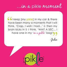 A note from an In a Pikle customer…