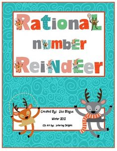 Here's a series of reindeer themed games for fractions, decimals, and percents. Includes Scrabble (Addition of Fractions with unlike denominators), Fawnopoly (Percent of a Number), and Reindeer Kiting (Addition and Subtraction of Decimals).