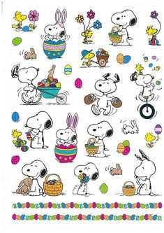 Peanuts Characters Snoopy and Woodstock Easter Stickers, 29 Stickers - Boston Needleworks & Scrapbooking Easter Stickers, Christmas Stickers, Cute Stickers, Easter Gifts For Kids, Easter Toys, Charlie Brown Peanuts, Peanuts Snoopy, Totoro, Snoopy Und Woodstock