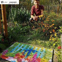 """Gefällt 109 Mal, 13 Kommentare - by Kleen-Tex (@wash_and_dry_floorfashion) auf Instagram: """"Hallo Ihr Lieben!! Schaut unbedingt bei @_papapi_ vorbei um an unseren gemeinsamen Gewinnspiel…"""" Picnic Blanket, Outdoor Blanket, Terrace Garden, Instagram, Terraced Garden, Picnic Quilt"""
