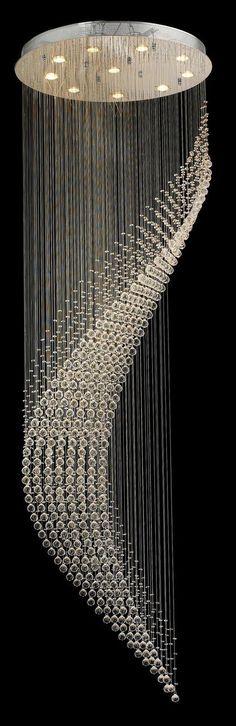 Designer Chandelier Australia Pty Ltd - Contemporary Wave LED Chandelier - W:80cm H:260cm , $2,499.00 (http://www.designerchandelier.com.au/contemporary-wave-led-chandelier-w-80cm-h-260cm/)v TT