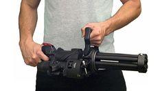 XM556 Microgun Empty Shell Defense - World's First Hand Held 5.56mm Electric Gatling Gun featured