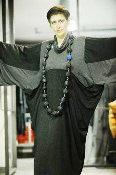 Polymer clay necklace  Presentation of designer clothes Sasson kedem