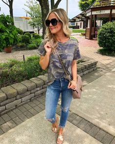 Fashion Outfits spring outfits for moms 50 best outfits.Fashion Outfits spring outfits for moms 50 best outfits Outfits 80s, Camo Outfits, Fashion Outfits, Casual Mom Outfits, Camo Shirt Outfit, Winter Outfits, Jean Outfits, Casual Jeans Outfit Summer, Style Fashion