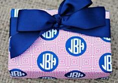 Monogrammed gift wrap