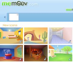 A nice site for creating a story, w/ scenes, characters, and text.