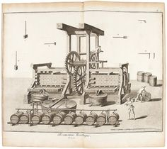 Diderot on Grape Cultivation, Presses and Cider Presses #wine #engraving #history  Diagram like, - ideas