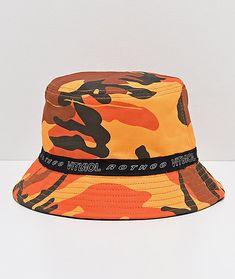 5cd8a50d9b Rothco x Vitriol Orange Camo Reversible Bucket Hat