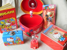 Vintage Hello Kitty Collection. $48.00, via Etsy....I had the memo box on the right.