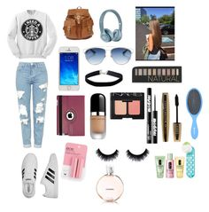 """""""What I would wear to go to school"""" by jordyncyprian on Polyvore featuring Topshop, adidas, Christian Dior, Miss Selfridge, Natico, Marc Jacobs, Forever 21, NARS Cosmetics, Ardency Inn and L'Oréal Paris"""
