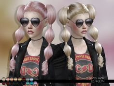 The Sims Resource: LeahLillith Spirals Hairstyle • Sims 4 Downloads