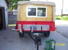 Just build a camper that is hidden beneith the tarp. Off Road Camper Trailer, Trailer Tent, Camper Trailers, Truck Camping, Camping Glamping, Outdoor Camping, Build A Camper, Homemade Camper, Mini Camper