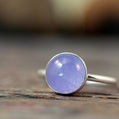 Gorgeous natural Lavender Jade and Sterling Silver ring by #ThirtySixTen on Etsy $48