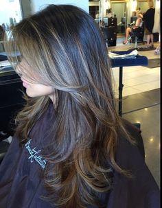 Brown Hair Balayage, Hair Color Balayage, Hair Highlights, Haircuts For Long Hair, Long Hair Cuts, Beautiful Long Hair, Gorgeous Hair, Medium Hair Styles, Short Hair Styles