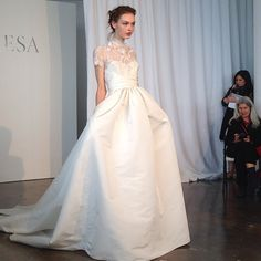 This is a more modern version of Princess Grace's gown. Beautiful!   marchesa wedding dress
