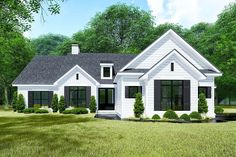 Plan Stunning Country House Plan with Bonus Room above Garage This stunning, country house plan provides an open floor plan in the center of the home, with a lar Ranch House Plans, Best House Plans, Square House Plans, 4 Bedroom House Plans, Ranch Floor Plans, Rambler House Plans, Retirement House Plans, Log Home Floor Plans, Modern Farmhouse Plans