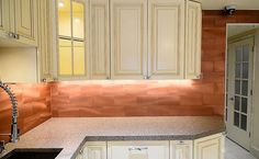 Image result for copper backsplash tiles