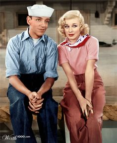 Fred Astaire and Ginger Rogers in  Follow the Fleet, 1936, .....Uploaded By www.1stand2ndtimearound.etsy.com