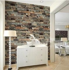 Modern Stone Brick 3d Wallpaper Dining room,Kitchen,Bathroom,Office Background Wall Wallpaper Emboss Waterproof Vinyl Wallpaper
