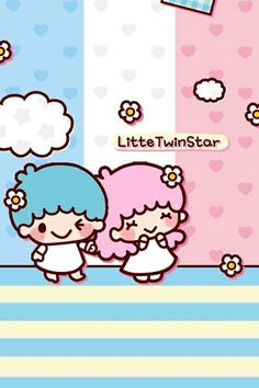 little twin stars 36 Sanrio Wallpaper, Hello Kitty Wallpaper, Kawaii Wallpaper, Sanrio Characters, Cute Characters, Star Stickers, Cute Stickers, Little Twin Stars, Little Star