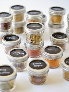 Mason Jar Spice Containers | DIY Kitchen Storage Ideas for Small Spaces | Click for Tutorial | DIY Kitchen Organization Ideas