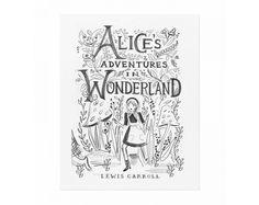 Alice Sketch Art Print from Once Upon A Flutter