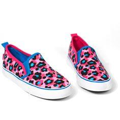 Pink Cheetah Slip On Sneakers by Little Miss Matched Little Miss Matched, Pink Cheetah, Slip On Sneakers, Girls Shoes, Calves, Kids Fashion, Vans, Heels, Black