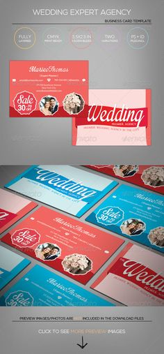 [ Wedding Show/Agency/Planner  Business Card Template ]3.52.5in   0.25in Bleed, CMYK Print Ready.Fully Layered Photoshop PSD CS2 o