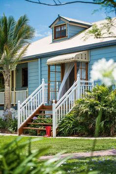 With a bushland setting in the Gold Coast hinterland offering peaceful seclusion, this Queenslander home is a charming retreat in every sense. Interior Exterior, Exterior Paint, House Front, My House, Front Porch, Queenslander House, Weatherboard House, Colonial, Australia House