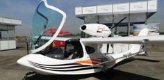 Ultraleve anfíbio nacional, modelo Sport Carbon, da AirMax; aparelho custa R$ 217 mil