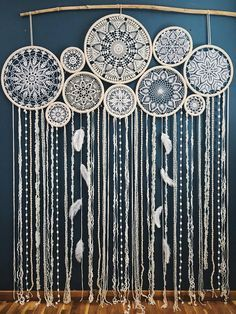 Dream catcher wall hanging, boho chic decor, giant dream catcher, large dreamcatcher, wedding dreamcatcher – Diy Home Crafts Grand Dream Catcher, Dream Catcher Wedding, Big Dream Catchers, Large Dream Catcher, Dream Catcher Boho, Doily Dream Catchers, Dream Catcher Decor, Beautiful Dream Catchers, Centerpiece Decorations