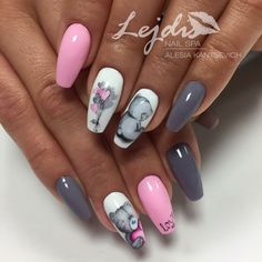 Мечко nail designs for summer nail designs for short nails 2019 holiday nail stickers nail art sticker stencils best nail wraps 2019 nail art designs 2019 short nail designs 2019 kiss nail stickers self adhesive nail stickers essie nail stickers Short Nail Designs, Cool Nail Designs, Special Nails, Gel Nails French, Super Nails, Gorgeous Nails, Pink Nails, Matte Nails, Trendy Nails