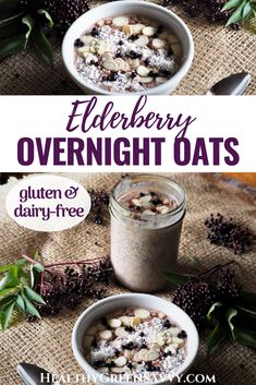 This easy overnight oats recipe is packed with nutrients to keep your immune system humming, with elderberry for extra anti-viral punch. Your new go-to for a healthy grab and go breakfast! #overnightoats #elderberry #breakfastrecipes #oats #immune #nutrition Super Healthy Recipes, Healthy Food Choices, Real Food Recipes, Clean Eating Breakfast, Easy Healthy Breakfast, Breakfast Recipes, Easy Overnight Oats, Oats Recipes, Vegan Recipes