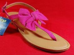 NEW Girl's Youth Sonoma POPPI PINK Slip on Flip Flops Thongs Fashion Shoes | eBay