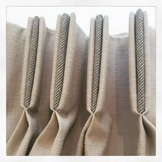 Contrast section added to triple pleats made by Tara Charlton Curtains