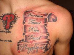Family Tattoo Ideas for Men | 30 Beautiful Scroll Tattoos
