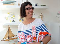 Jane Foster the creator of the lovely new range of prints and cuddly toys at www.quinceliving.co.uk