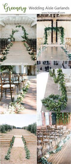 greenery wedding color ideas - greenery wedding aisles #weddings #weddingcolors #weddingideas #springwedding #himisspuff #neutral #greenery #greeneryweddings