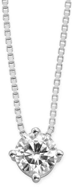 Forever Brilliant 14k White Gold 1/2-ct. T.W. Round-Cut Lab-Created Moissanite Pendant