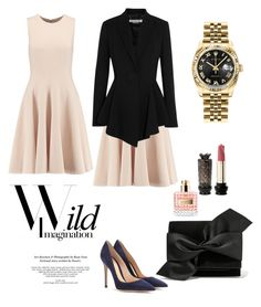 """""""Untitled #1282"""" by frenchfriesblackmg ❤ liked on Polyvore featuring Michael Kors, Gianvito Rossi, Rolex, Givenchy, Victoria Beckham and Valentino"""