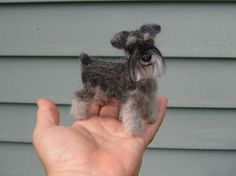 Look at this darling felted schnauzer! @Dana Curtis Curtis Strevay
