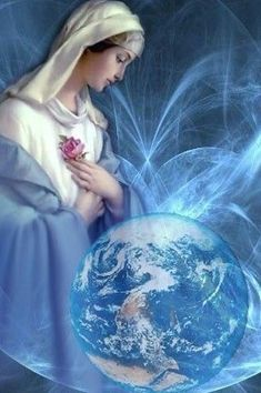 Queen of Heaven and Earth Blessed Mother Mary, Divine Mother, Mother Goddess, Blessed Virgin Mary, Catholic Art, Religious Art, Images Of Mary, Queen Of Heaven, Sainte Marie