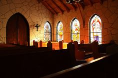 Mo Ranch Chapel near Kerrville, TX. Beautiful hill country chapel with view of the Guadalupe.
