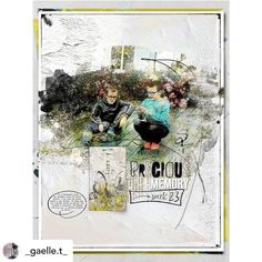 Posted @withregram • @_gaelle.t_ Precious memory  credits : NBK-Design : On the sunny side . bundle  #the_lilypad #Digiscrappin #scrapbooking #pocketpages #artjournals #projectlifelayout #projectlife2018 #projectlifeapp
