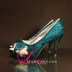 "All new 3.5"" heels, signature butterfly"
