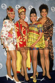 En Vogue, 1991 ~African fashion, Ankara, kitenge, African women dresses, African prints, Braids, Nigerian wedding, Ghanaian fashion, African wedding ~DKK
