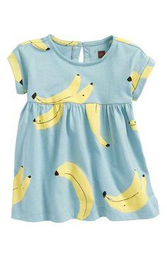 Main Image - Tea Collection Bananas Knit Dress (Baby Girls)